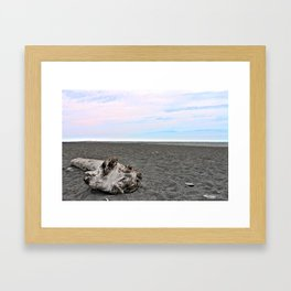 Black Sand Color Sky Framed Art Print