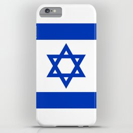 Flag of the State of Israel - High Quality Image iPhone Case