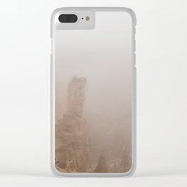 Bryce Canyon Obscured Clear iPhone Case