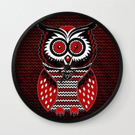Twin Owl Peaks Wall Clock