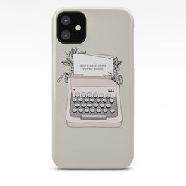 Don't Stop iPhone Case