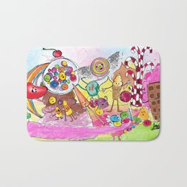 Eating at Candyland Bath Mat