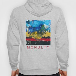 Lucas Abstract Painting Blue Black Yellow Hoody
