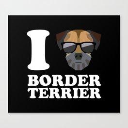 I Love Border Terrier modern v2 Canvas Print