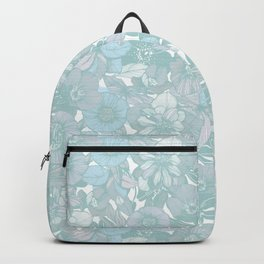 Hellebore lineart florals | bright Backpack