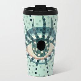 Dots And Abstract Eye Travel Mug
