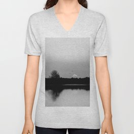 Mound Hood Reflection II Unisex V-Neck