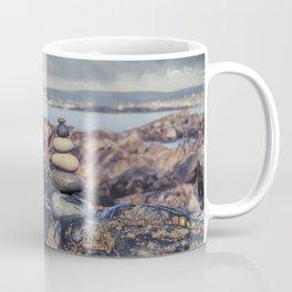 Rock Balancing At The Beach Coffee Mug