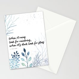 Oscar Wilde Quote - When it rains look for rainbows Stationery Cards