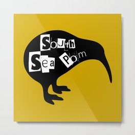 KIWI South Sea Pom Metal Print