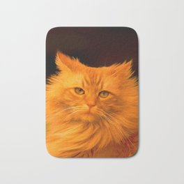 Red cat Bath Mat