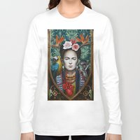 frida Long Sleeve T-shirts featuring Frida by Sophie Wilkins