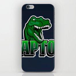 cartoon raptor iPhone Skin