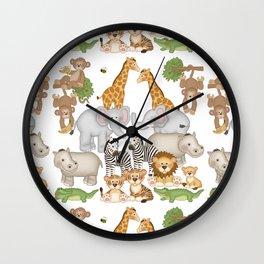 Safari Animals Kids Wall Clock