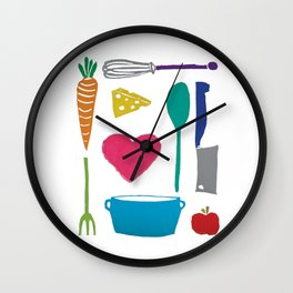 Palatable Printmaking Wall Clock