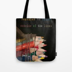 Color outside of the lines Tote Bag