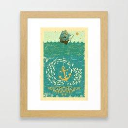 GOLDEN ANCHOR Framed Art Print
