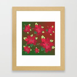 Poinsettia Christmas Flower Framed Art Print