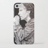 eddie vedder iPhone & iPod Cases featuring Eddie Vedder - Pearl Jam by whiterabbitart