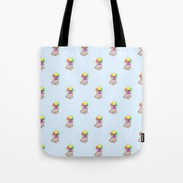 Pug dog in a clown costume pattern Tote Bag