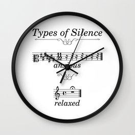 Types of silence Wall Clock