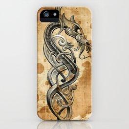Celtic  tattoo design iPhone Case