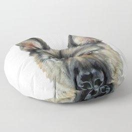 Shepard Dog illustration original painting print Floor Pillow