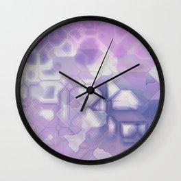 future fantasy snow cover Wall Clock