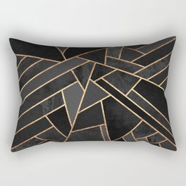 Black Night Rectangular Pillow