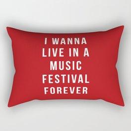 Live Music Festival Quote Rectangular Pillow