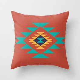Southwest Indian Tribal Abstract Pattern Throw Pillow