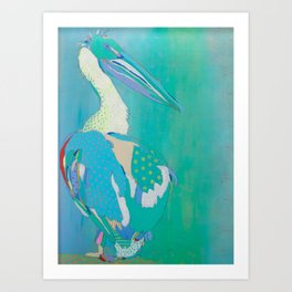 Pyramid Lake White Pelican Art Print