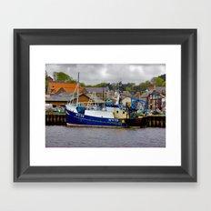 Fishing Trawler at Whitby Framed Art Print