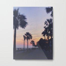 Battery Sunset Metal Print