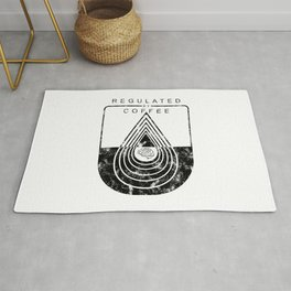 Caffeine on the Brain // Regulated by Coffee Espresso Drip Distressed Living Graphic Design Rug