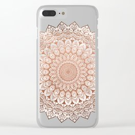 ROSE NIGHT MANDALA Clear iPhone Case