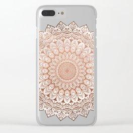 ROSE NIGHT MANDALA Clear iPhone Case