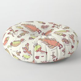 Cambrian Critters Floor Pillow
