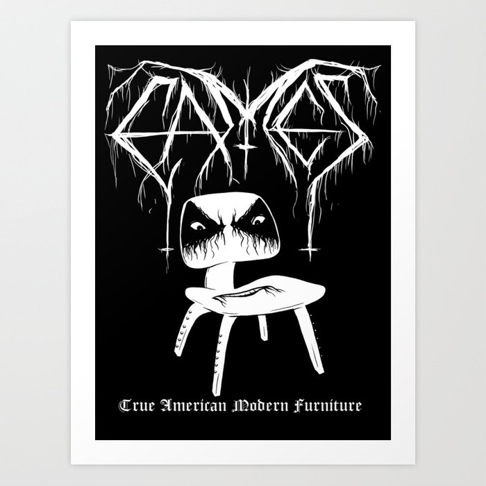 Modern Black Metal Art Print