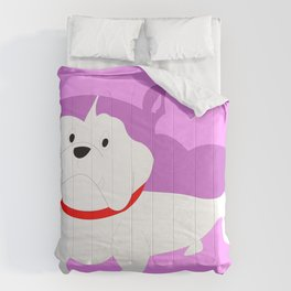 PURPLE BILLY THE DOG Comforters