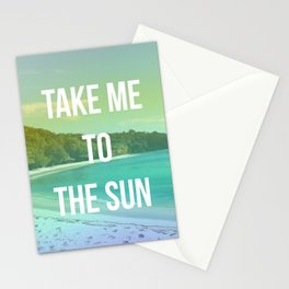 Take Me to the Sun Stationery Cards