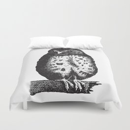 Fluffy owl Duvet Cover