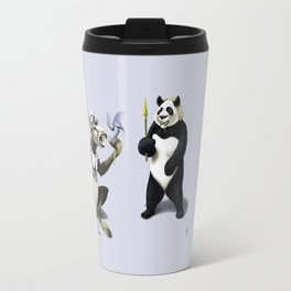 Donkey Xote and Sancho Panda (Colour) Travel Mug