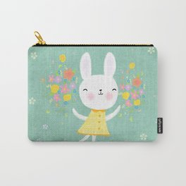 Dancing Garden Bunny Carry-All Pouch