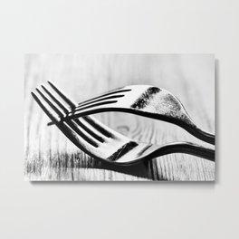 Cutlery 1: Forked Metal Print
