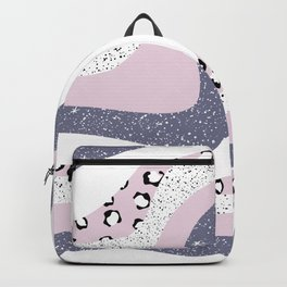 Modern groovy design with aesthetic vibes pink and purple Backpack