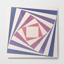 Spinning Squares Palette IIII Metal Print
