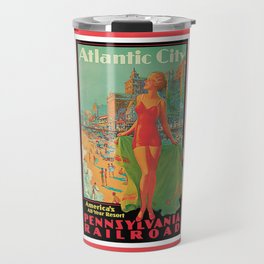 Atlantic city vintage bathing beauty Travel Mug