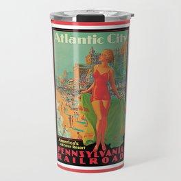 Atlantic city vintage bathing beauty Travel Mug