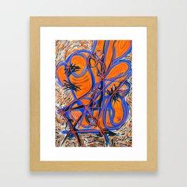 orange trace Framed Art Print